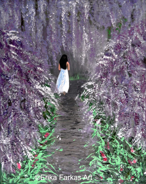 Through the Wisteria Forest