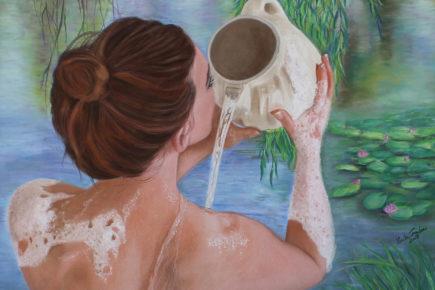 Morning Bath at the Lake