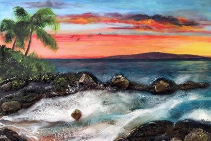 Sunset over Maui